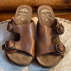 Dansko Fern wedge sandals size 38